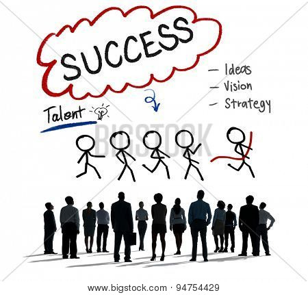 Success Talent Vision Strategy Goals Concept