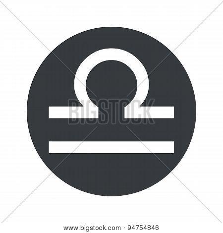 Monochrome round Libra icon