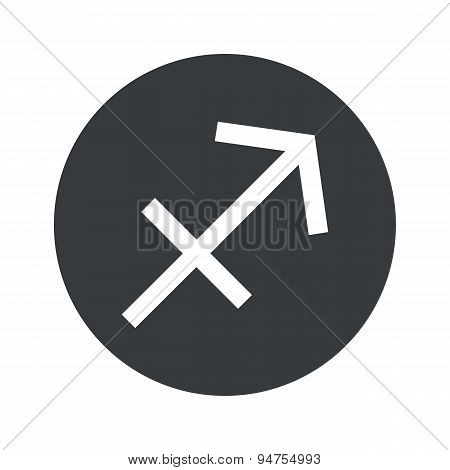 Monochrome round Sagittarius icon