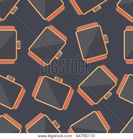 Smart Watch. Vector Seamless Pattern
