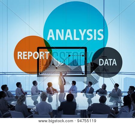 Data Analysis Report Planning Business Success Concept