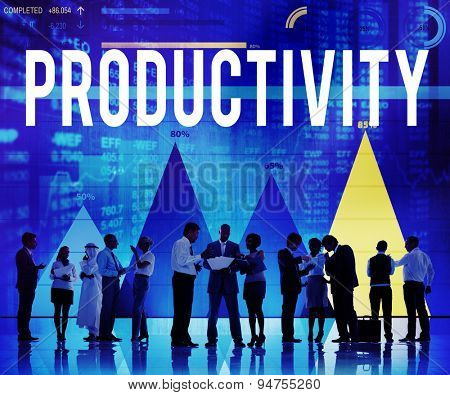 Productivity Efficiency Results Capacity Yield Concept