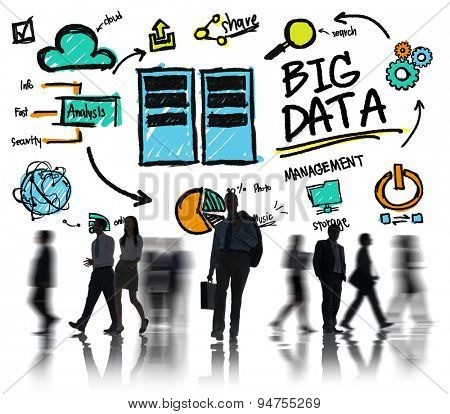 Business People Big Data Management Occupation Concept