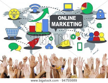 Online Marketing Commerce Connection Concept