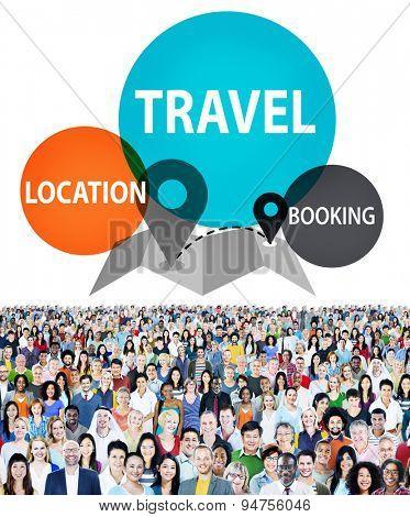 Check In Location Spot Travel Destination Concept
