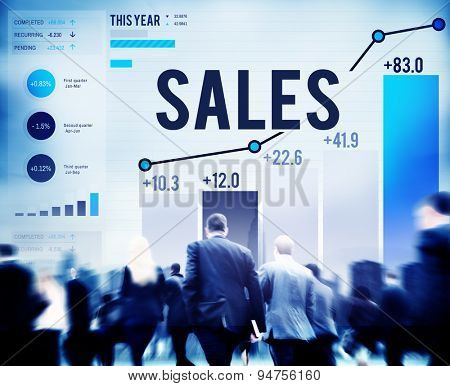 Sales Financial Money Revenue Profit Concept