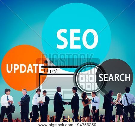 SEO Search Adwords Update Business Online Marketing Concept