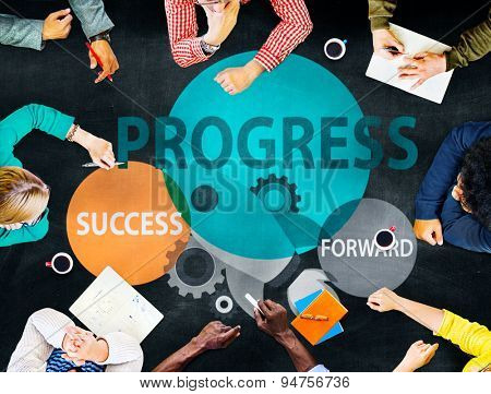 Progress Growth Development Improvement Concept