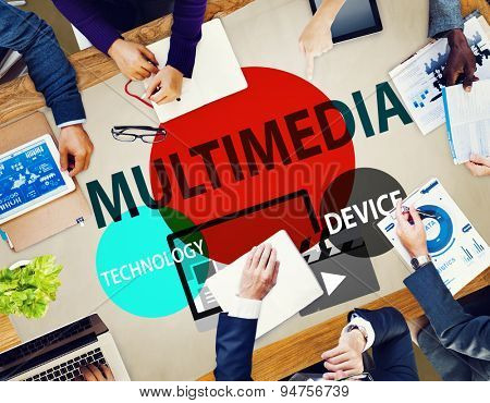 Multimedia Technology Digital Devices Information Concept
