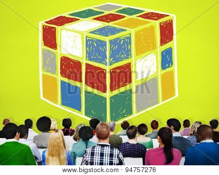 Puzzle Cube Game Cube Shape Intelligence Concept