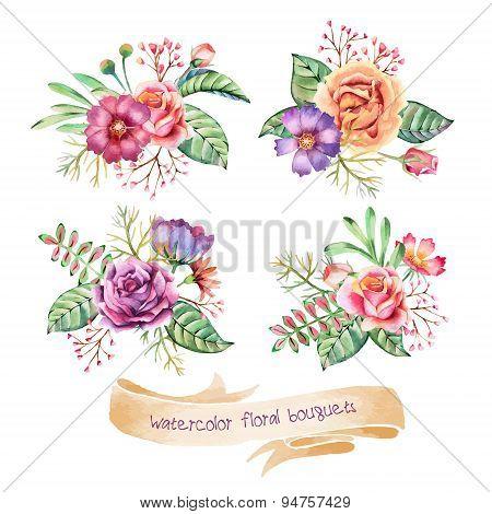 Watercolor Bouquets