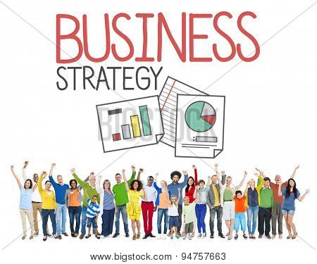 Business Strategy People Data Analysis Thinking Concept