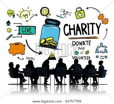 Business People Discussion Meeting Help Donate Charity Concept