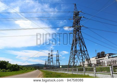 Power lines to power plants
