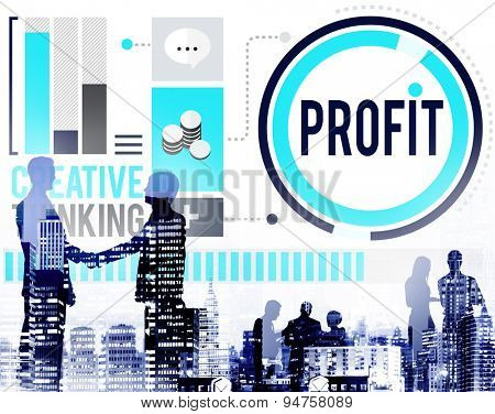 Profit Revenue Income Improvement Growth Success Concept