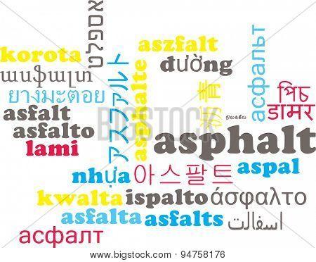 Background concept wordcloud multilanguage international many language illustration of asphalt