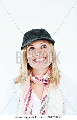 Beautiful Young Woman Wearing A Ha