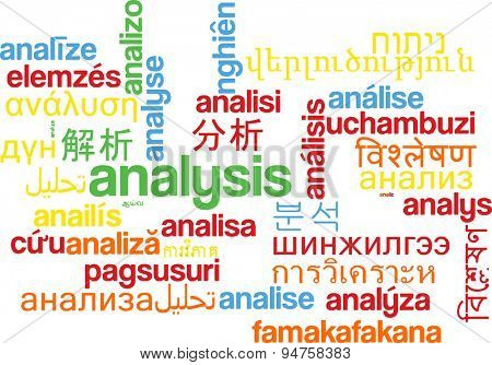 Background concept wordcloud multilanguage international many language illustration of analysis