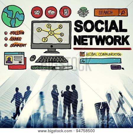 Social Network Social Media Internet WWW Web Online Concept