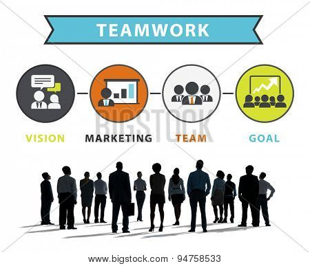 Business People Corporate Marketing Connection Teamwork Concept