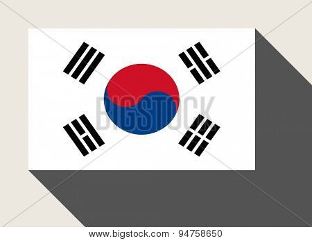 South Korea flag in flat web design style.