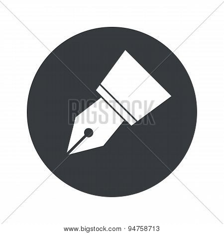 Round ink pen nib icon