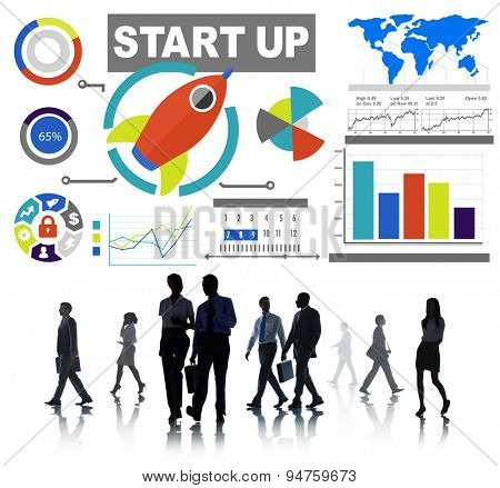Business People Start up Infographic Professional Occupation Concept