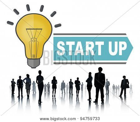 Startup New Business Growth Launch Concept