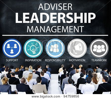 Adviser Leadership Management Director Responsibility Concept