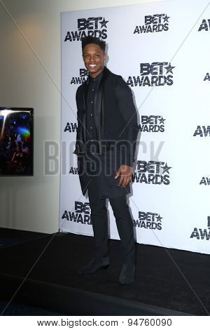 LOS ANGELES - JUN 28:  Avery Wilson at the 2015 BET Awards - Press Room at the Microsoft Theater on June 28, 2015 in Los Angeles, CA