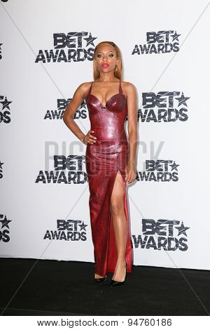 LOS ANGELES - JUN 28:  Lil Mama at the 2015 BET Awards - Press Room at the Microsoft Theater on June 28, 2015 in Los Angeles, CA
