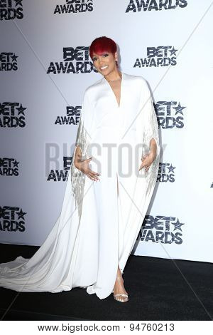 LOS ANGELES - JUN 28:  Monica at the 2015 BET Awards - Press Room at the Microsoft Theater on June 28, 2015 in Los Angeles, CA