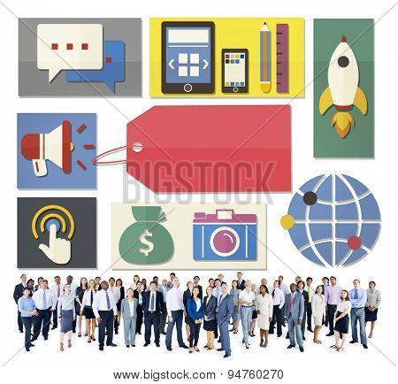 Business People Electronic Devices Technology Concept