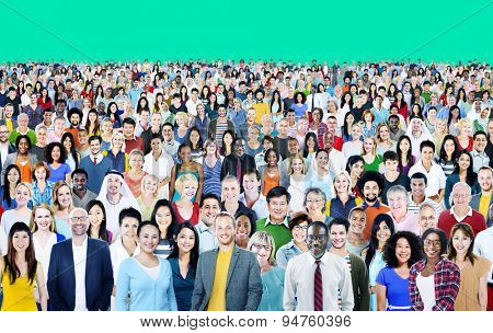 Large Group of Diverse Multiethnic Cheerful Concept