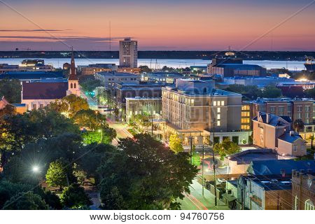 Charleston, South Carolina, USA downtown cityscape.