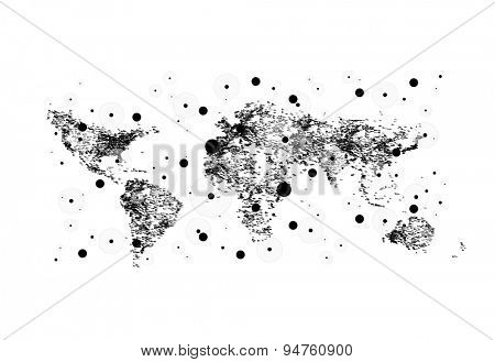 World map population easy all editable