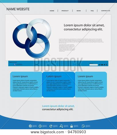 web design blue template easy editable
