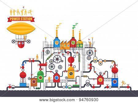 Vector concept - Factory