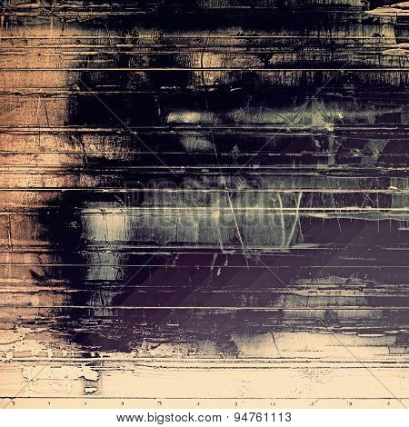 Old abstract texture with grunge stains. With different color patterns: yellow (beige); gray; black; purple (violet)