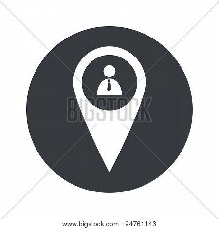 Monochrome round user pointer icon