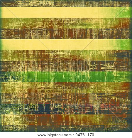 Abstract grunge background or old texture. With different color patterns: yellow (beige); brown; gray; green