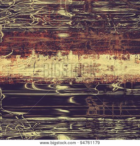 Abstract blank grunge background, old texture with stains and different color patterns: yellow (beige); brown; gray; purple (violet)
