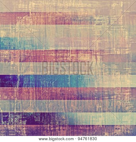 Grunge background with vintage and retro design elements. With different color patterns: brown; gray; blue; purple (violet)