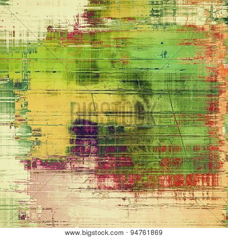 Grunge texture, Vintage background. With different color patterns: yellow (beige); brown; green; purple (violet); red (orange)