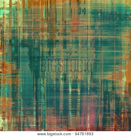 Abstract grunge background or old texture. With different color patterns: brown; gray; green; red (orange)