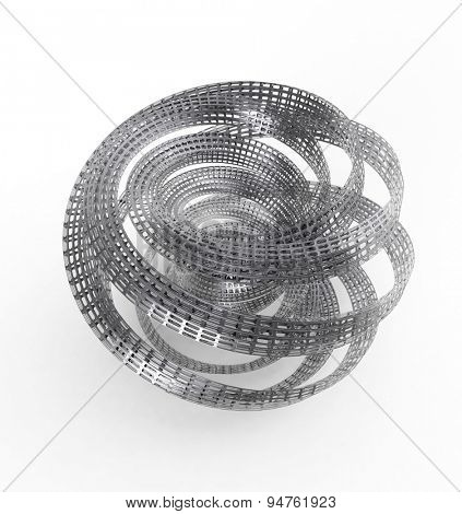 coil of metal perforated tape