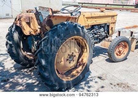 A Vintage Yellow Tractor