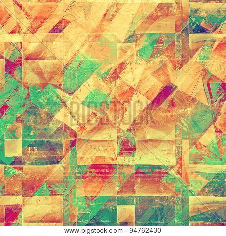 Aged grunge texture. With different color patterns: yellow (beige); brown; green; purple (violet)