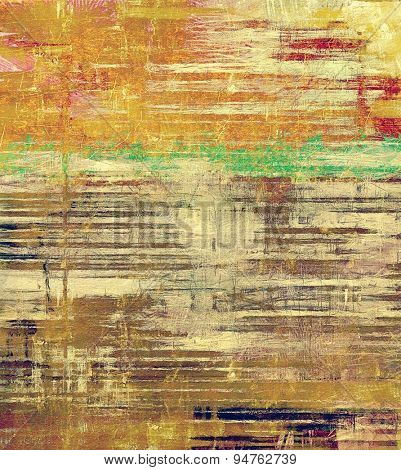 Grunge background with space for text or image. With different color patterns: yellow (beige); brown; green; red (orange)