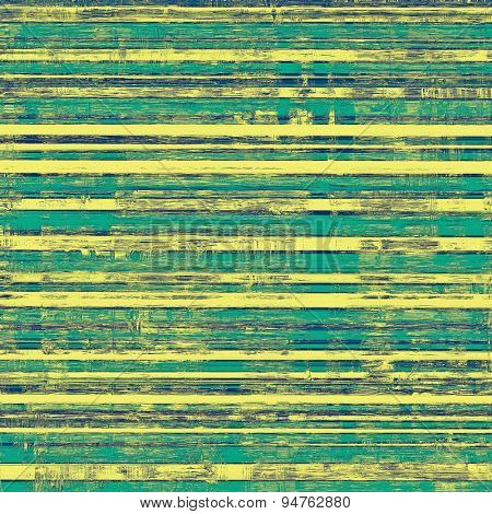 Abstract composition on textured, vintage background with grunge stains. With different color patterns: yellow (beige); blue; cyan; green